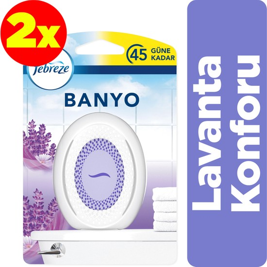 Febreze Hava Ferahlatıcı Banyo Oda Kokusu Lavanta x2