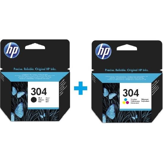 Hp 304 Siyah N9K06AE + Hp 304 Renkli N9K05AE Kartuş Seti