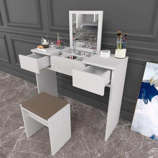 Evdemo Martı Makyaj Masası Takı Dolabı Beyaz