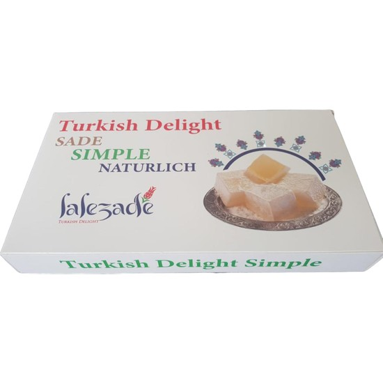 Lalezade Turkish Delight Sade Lokum 300 gr