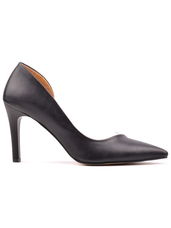Derinet Klasik Siyah Desenli Kadın Stiletto