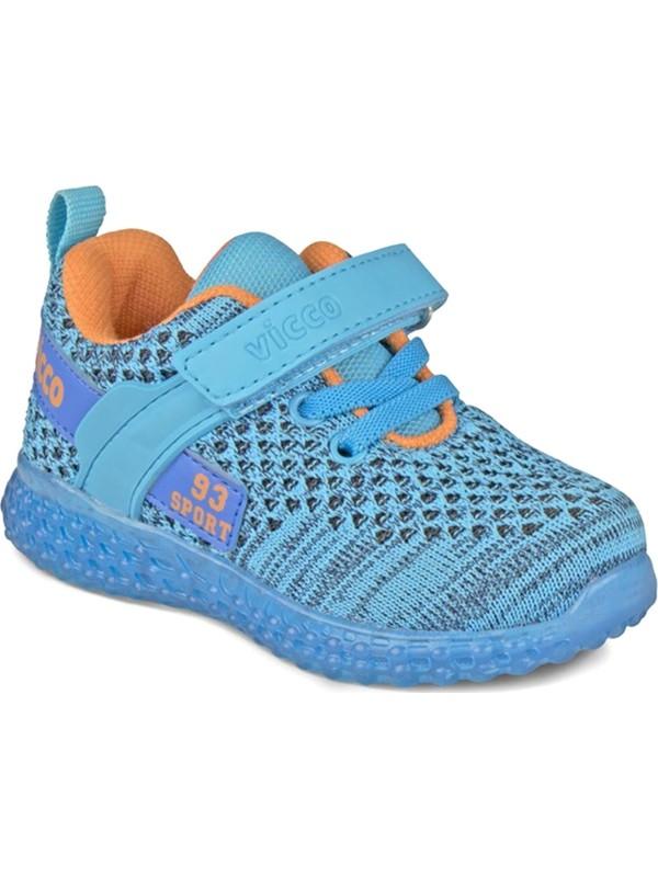 Vicco Alfa Patik Işıklı Spor Ayakkabı Mavi 313.P20Y.104