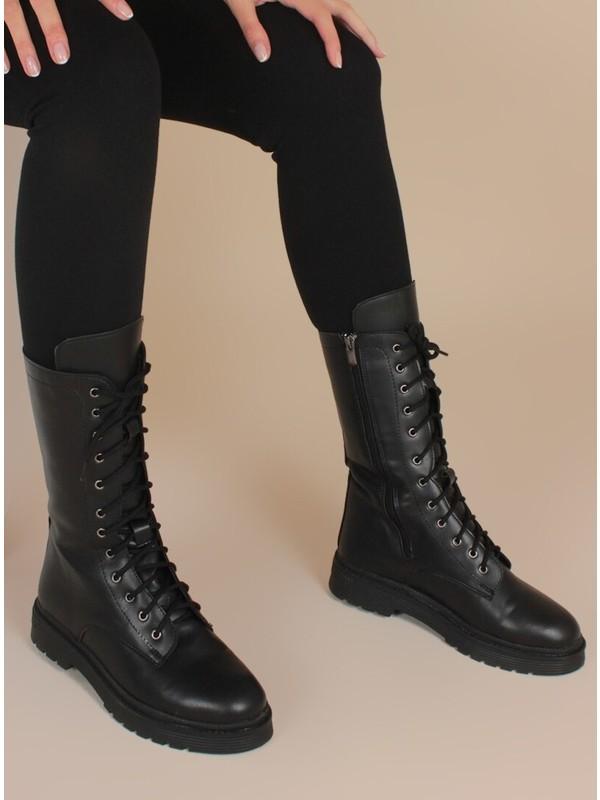 İnan Ayakkabı Siyah Cilt Bot