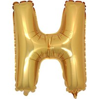 Acar Süs H Harfi Altın Folyo Balon 16 Inch 40 cm