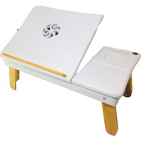 Ahşap Ustası Fanlı Laptop Sehpası
