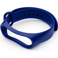 Nomino Balık Sırtı Mi Band 3/4 Uyumlu Silikon Kordon Koyu Mavi