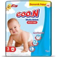 Goon Mutlu Bebek Külot Bez 3 Beden Ekonomik Paket 68 Adet
