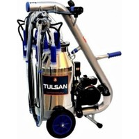 Tulsan Tempo Çift Sağım Yağlı Tip Alüminyum Güğüm Süt Sağma 40 lt