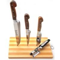 Lazoğlu Sürmene El Yapımı 3'lü Kurban Bıçak Seti + Bileyici