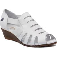 Mammamia D20ya 945 Terlik Sandalet Burnu Açık Kadın Beyaz 38