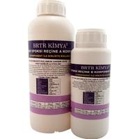Brtr Kimya Şeffaf Epoksi Reçine - 1,2 Kg Hobi Seti (0,75 Kg Reçine - 0,45 Kg Serteştirici)