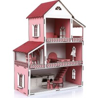 DB Lazer Tasarım Peri Rüya Ahşap Çocuk Oyun Evi