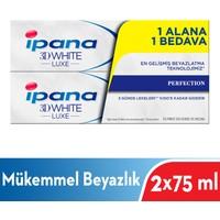 Ipana 3 Boyutlu Beyazlık Luxe Diş Macunu Perfection Mükemmel Beyazlık 1 Alana 1 Bedava Paketi (75 ml + 75 ml)