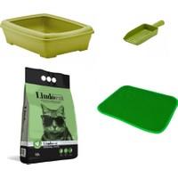 Maskot Yavru Kedi Tuvalet Kabı + Elekli Paspas + Kokusuz Kum + Kürek Set