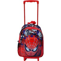Vk&Vk Çekçekli Spiderman Kabartmalı Okul Çantası