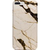 Kılıfland Apple iPhone 7 Plus Kılıf Silikon Resimli Kapak Marble Mermer Old Stone - 1192