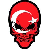 Sticker Fabrikası Kurukafa Türk Bayrağı Sticker 00013