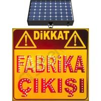 İlgi Trafik Güneş Enerjili Ledli Dikkat Fabrika Çıkışı Trafik Levhası