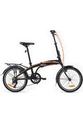 Bisan Fx 3500 Katlanır Bisiklet 20 Jant 6V 31 cm - Siyah Turuncu