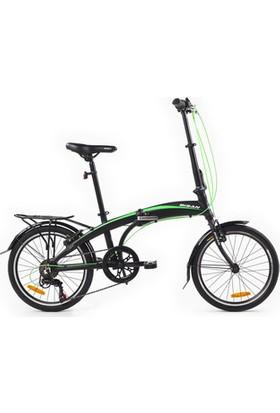 Bisan Fx 3500 Katlanır Bisiklet 20 Jant 6V 31 cm - Siyah Yeşil