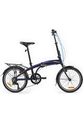 Bisan Fx 3500 Katlanır Bisiklet 20 Jant 6V 31 cm - Siyah Mavi
