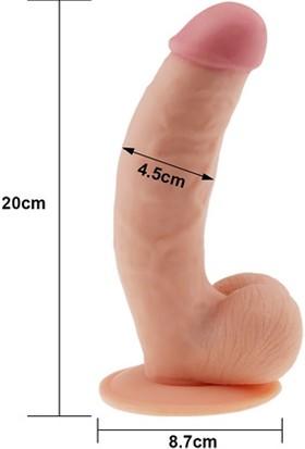 Lovetoy Ultra Dude 22 cm Vantuzlu Gerçekçi Kalın Realistik Dildo Penis