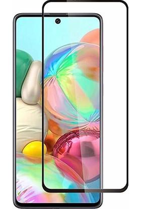 Aktif Aksesuar Samsung Galaxy A71 9d Tam Kaplayan Esnek Fiber Nano Cam