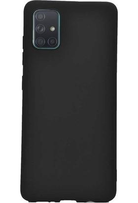 Aksesuarkolic Samsung Galaxy A51 Kılıf Premier Silikon Esnek Koruma Siyah