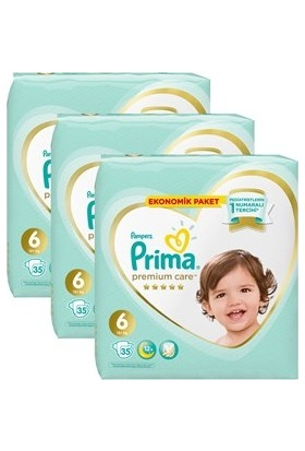 Prima Premium Care 6 Beden Ekstra Large Bebek Bezi 35 x 3 105 Adet