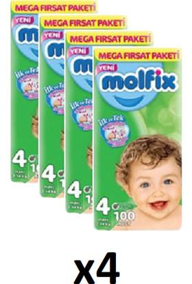 Molfix Bebek Bezi Mega Fırsat Paketi 4 Numara 7-14 Kg x 4 Adet