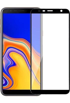 Logis Samsung Galaxy J4 5D Tam Kaplayan Ekran Koruyucu Cam
