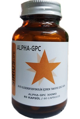 Sirius Alpha Gpc L-Alfa Gliseril Fosforilkolin 300 Mg 60 Kapsül