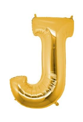 Acar Süs J Harfi Altın Foly Balon 16 Inch 40 cm
