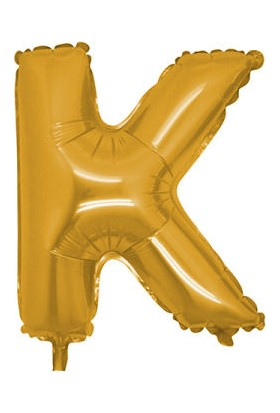 Acar Süs K Harfi Altın Folyo Balon 16 Inch 40 cm