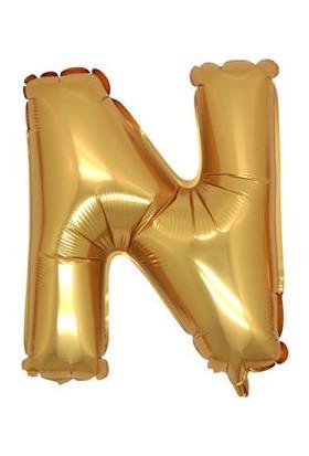 Acar Süs N Harfi Altın Folyo Balon 40 Inch 90 cm