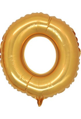 Acar Süs O Harfi Altın Folyo Balon 16 Inch 40 cm
