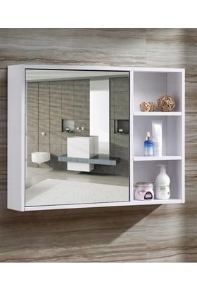 Taç Dekorasyon Banyo Dolabı Aynalı Üst Modülü