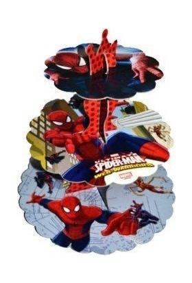 Tuğra Spiderman Örümcek Adam Cup Kek Standı 3 Katlı