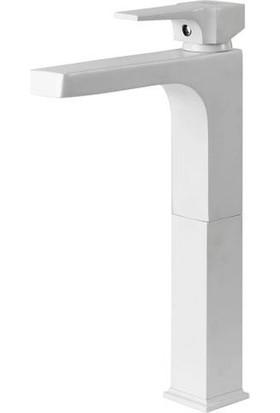 Newarc Aqua Çanak Lavabo Bataryası Beyaz