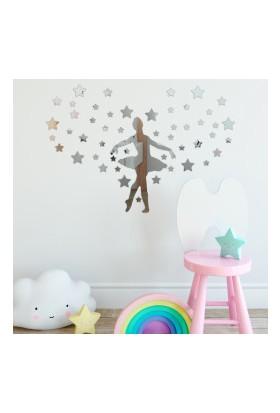 Dez Balerin Model Yıldızlı Dekoratif Duvar Aynası