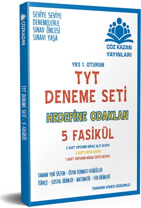 Çöz Kazan Yayınları TYT Deneme Seti 5 Fasikül