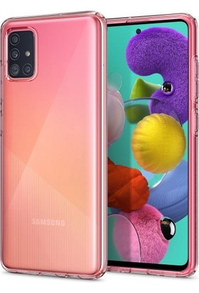 Zore Samsung Galaxy A51 Kılıf Ultra İnce Esnek Süper Silikon - Şeffaf