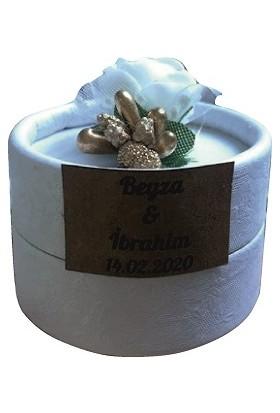 Dünya Hediye Kutu Etiketli Süslemeli Magnet 10 Adet