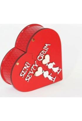 Hayal Oyuncak Matruşka 4lü Kutu Sevgililer Günü Hediyesi Ahşap Isim Yazılabilen