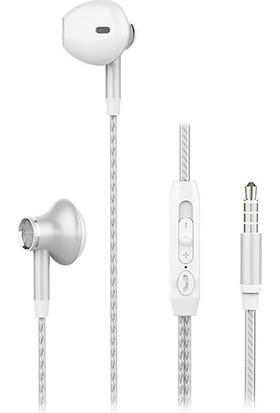 Snopy SN-X24 Beyaz Kulak İçi Mikrofonlu Kulaklık