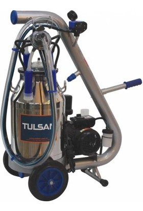 Tulsan Tempo Tek Sağım Yağlı Tip Alüminyum Güğüm Süt Sağma 40 lt
