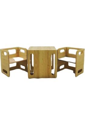 Woodlife Çocuk Ders Çalışma - Oyun Masası Takımı