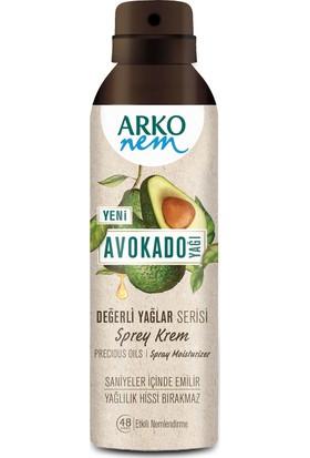 Arko Nem Değerli Yağlar Avokado Sprey Krem 150ML