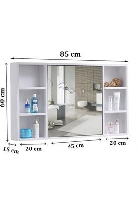 Taç Dekorasyon Aynalı Üst Modülü Banyo Dolabı