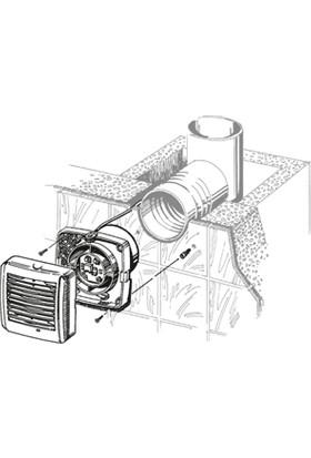 Blauberg Aero Still 150 T Zaman Ayarlı Sessiz Plastik Banyo Fanı 254 M3H